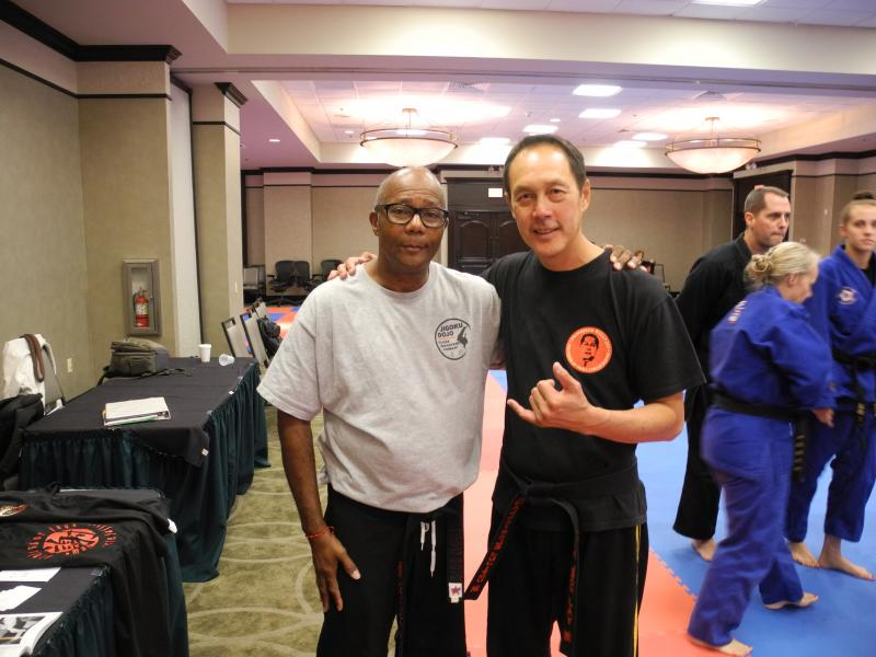 Professor Leon Jay and Sensei Lonnie Calhoun